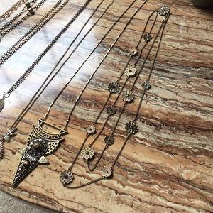 Accessories - Gold layering costume jewelry necklaces boho gypsy